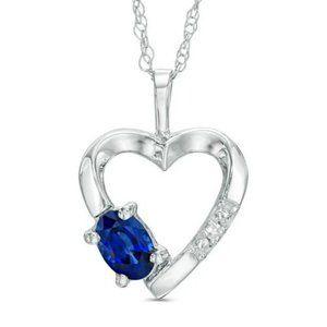 Jewelry - 1.3 Ct Heart Shape Sri Lanka Sapphire Diamond